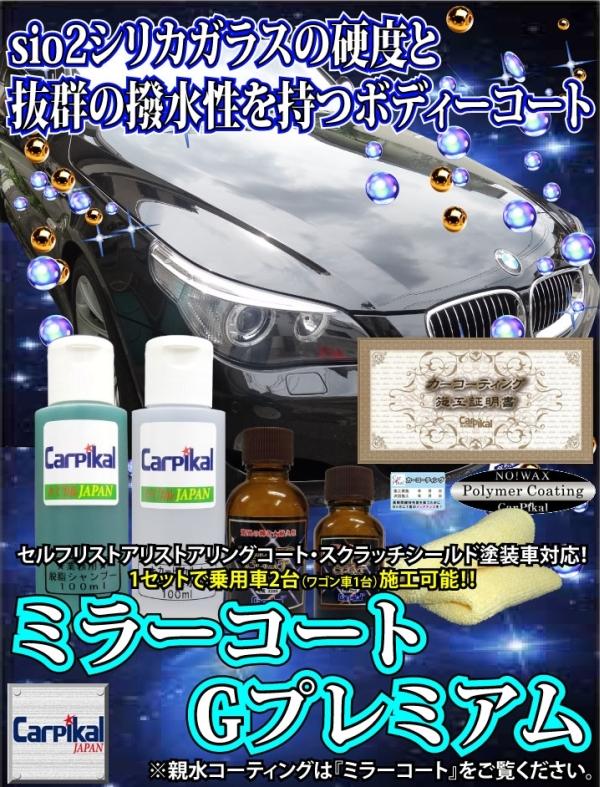 車 撥水性 ガラスコーティング剤 業務用 ミラーコートGプレミアムセット