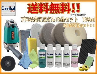 業務用カーピカル プロの磨き屋さんW・ギアアクション用Sバフ18品セット